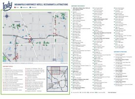 NorthWest Indianapolis hotels and sightseeings map