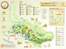 Irvine Regional Park map