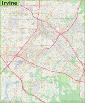 Large detailed map of Irvine