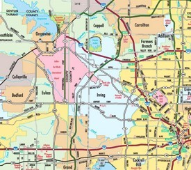 Irving Maps Texas US Maps of Irving