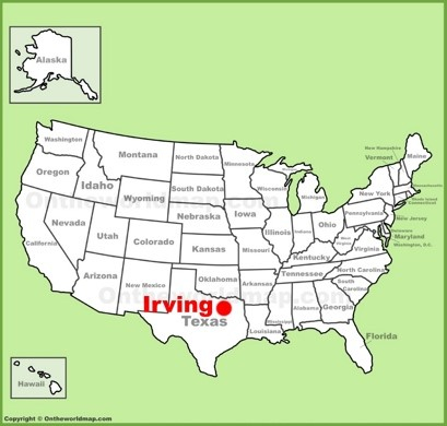 Irving Maps | Texas, U.S. | Maps of Irving