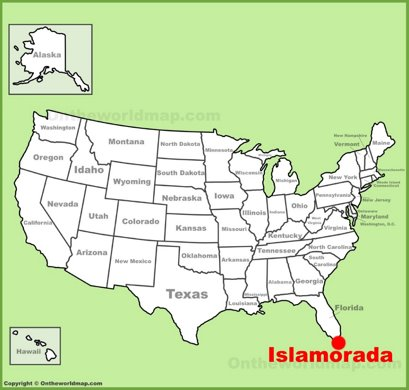 Islamorada Location Map