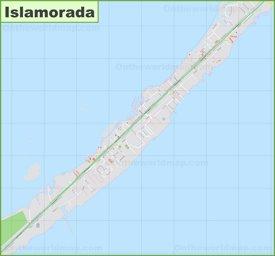 Large detailed map of Islamorada