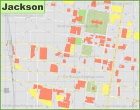 Jackson downtown map