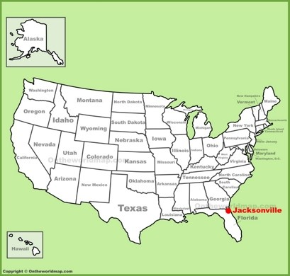 Jacksonville Maps Florida US Maps of Jacksonville