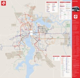 Jacksonville transport map