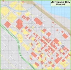 Jefferson City downtown map