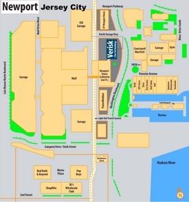 Jersey City Newport map