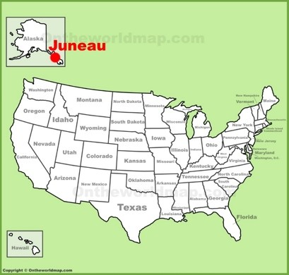 Juneau Location Map