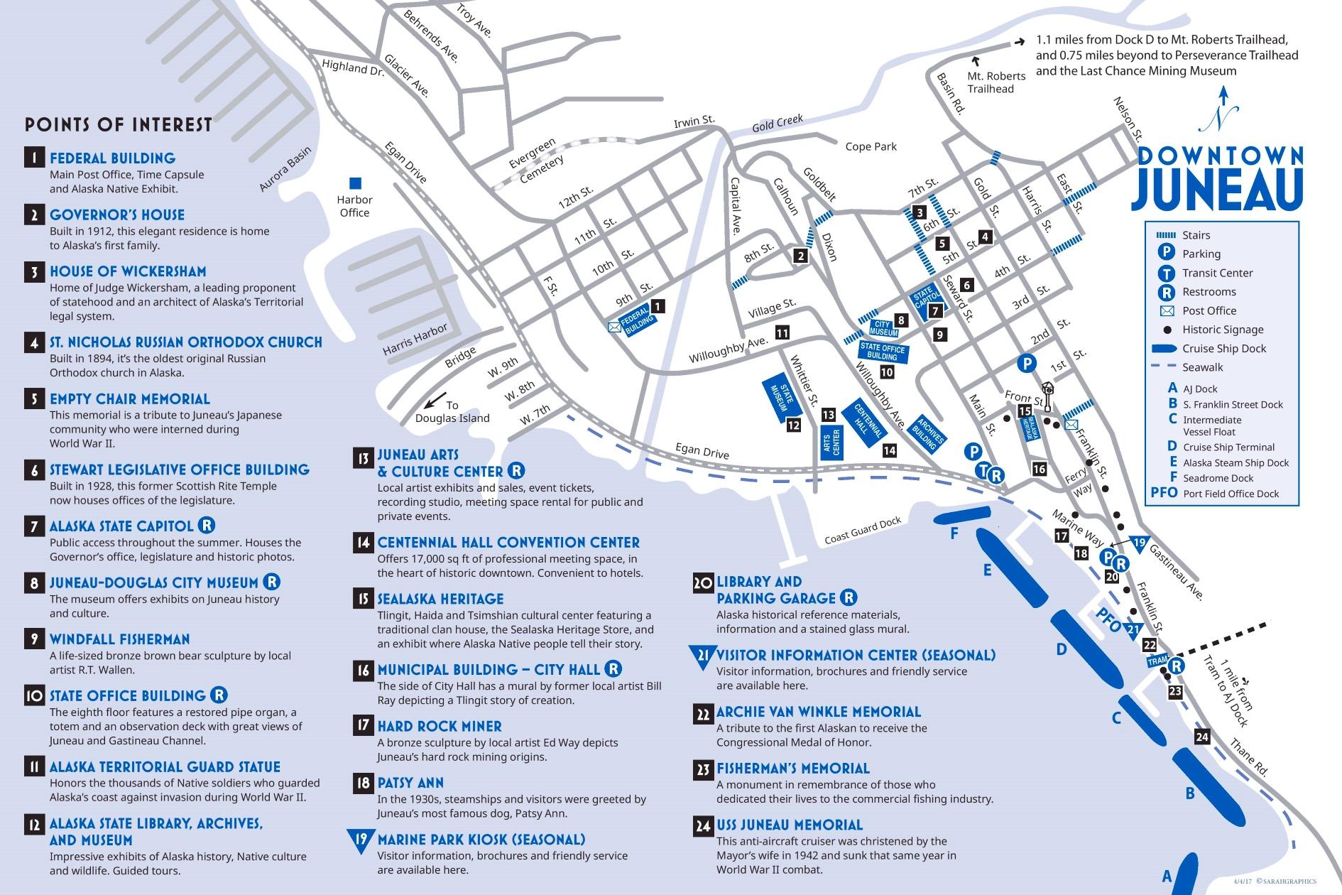 Juneau tourist map