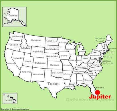 Jupiter Location Map