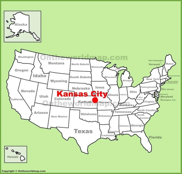 Kansas City (Kansas) location on the U.S. Map