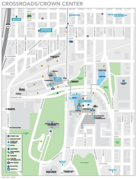Kansas City Crown Center map