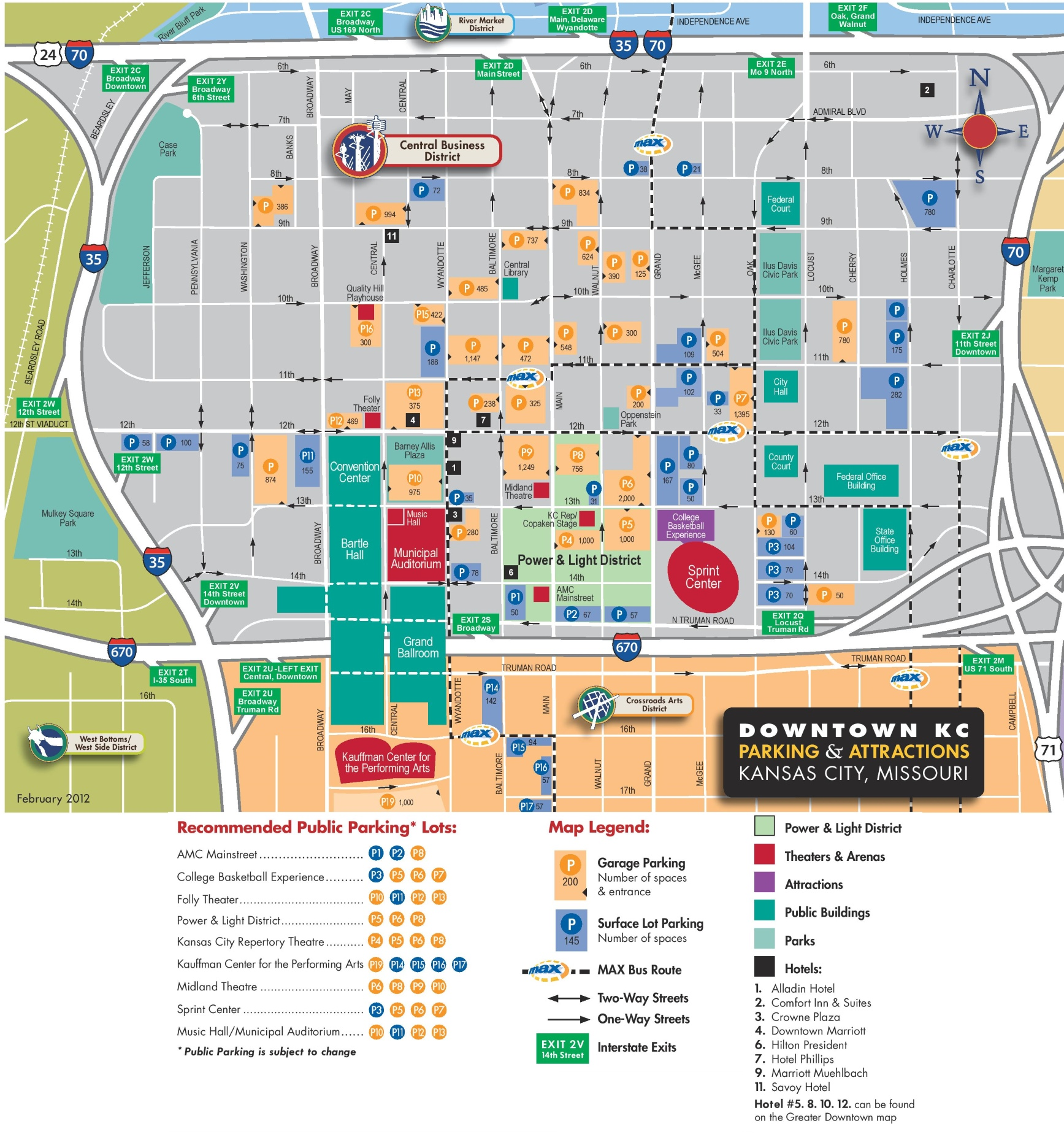 Kansas City Downtown Parking Map - Kansas city map