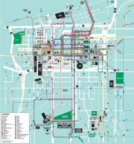 Kansas City downtown transport map
