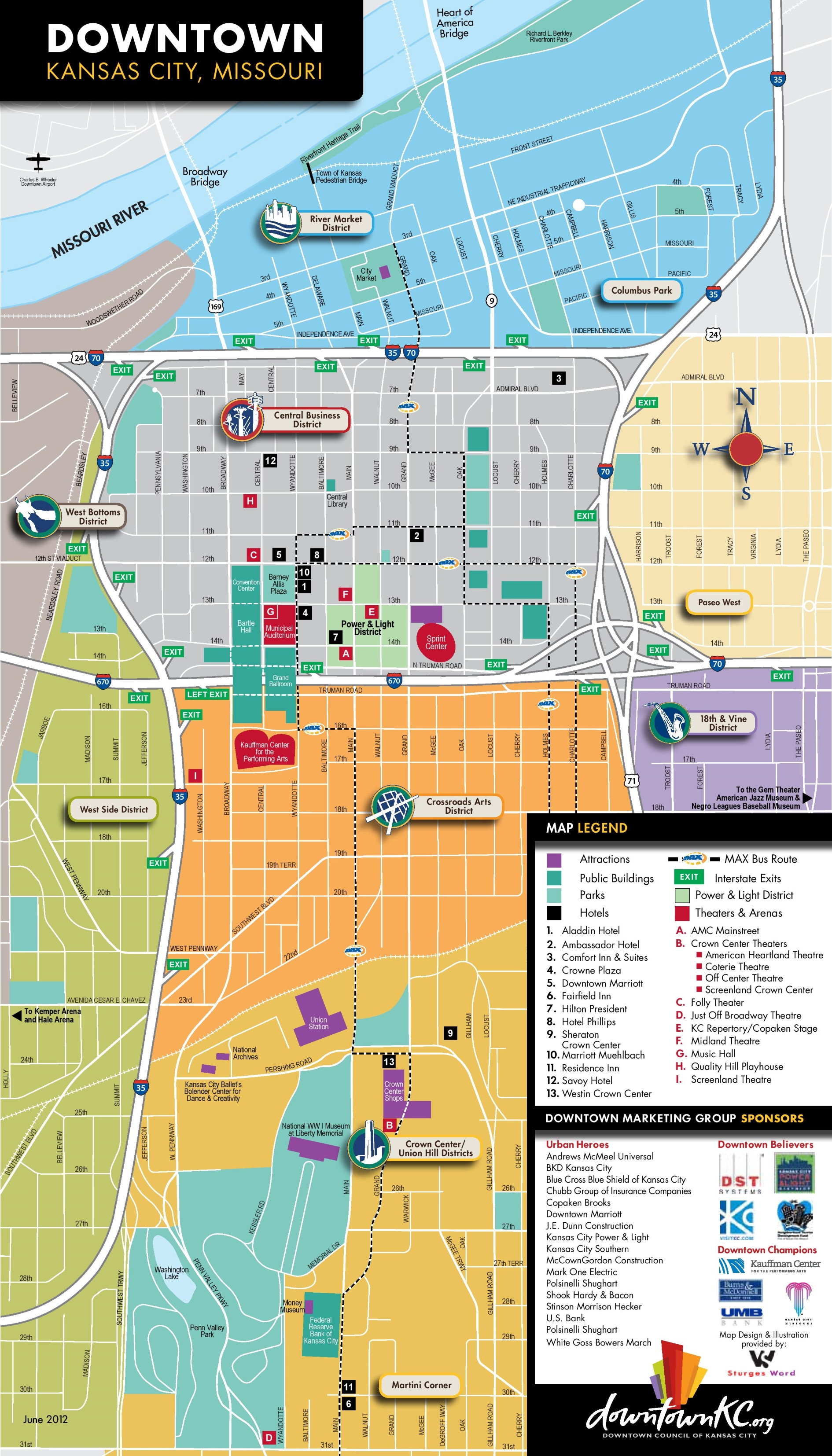 Kansas City Tourist Map - Kansas city map