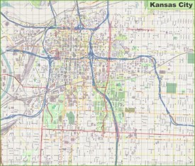 Large detailed map of Kansas City