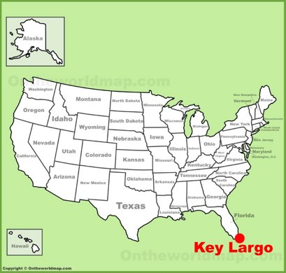 Key Largo Location Map