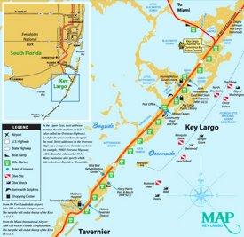 Key Largo tourist map
