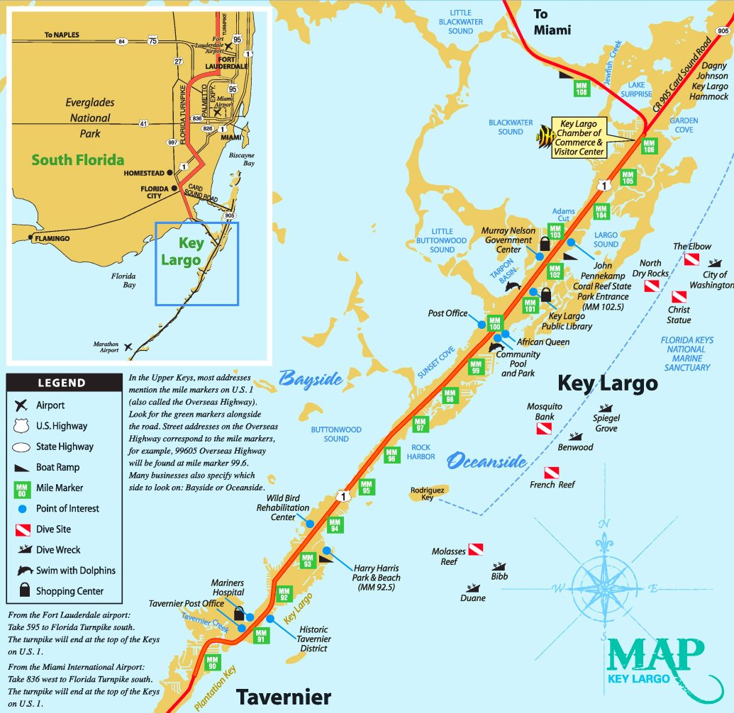 Key Largo tourist map on map of pelican key, map of little conch key, map of big coppitt key, map of rainbow river, map of cape kennedy, map of everglades np, map of sombrero beach, map of the keys, map of biscayne park, map of sigsbee park, map of indian key, map of virginia key, map of st. marks, map of keaton beach, map of north ft myers, map of opa locka, map of glades county, map of diamonds, map of pahokee, map of north bay village,
