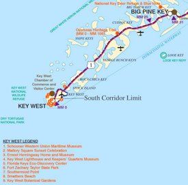 Key West area map