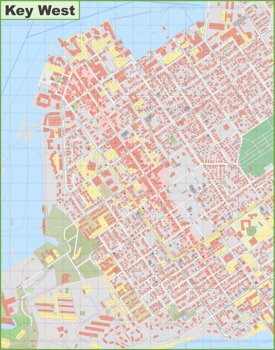 Key West downtown map