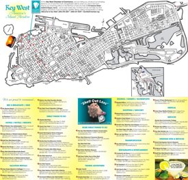 Key West hotels and sightseeings map
