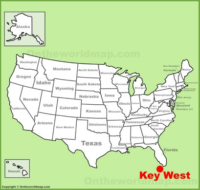 Key West Location Map