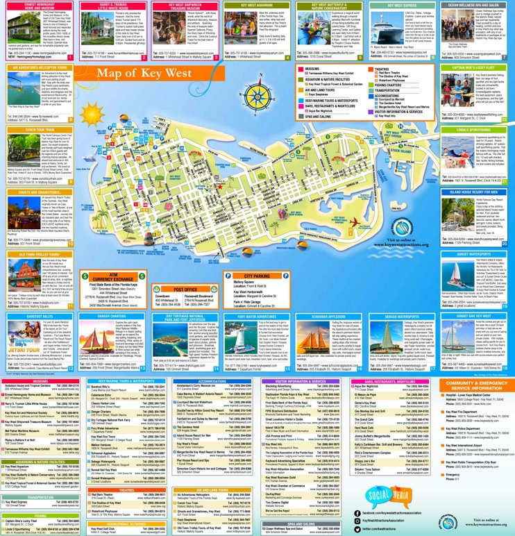 Key West tourist map