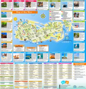 Key West tourist map