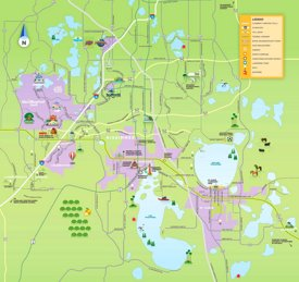 Kissimmee tourist map