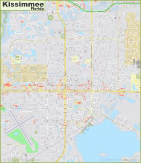 Large detailed map of Kissimmee