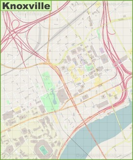 Knoxville downtown map