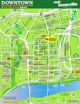 Knoxville Maps Tennessee US Maps of Knoxville