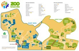 Knoxville Zoo map