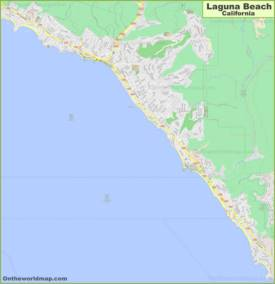 Detailed Map of Laguna Beach