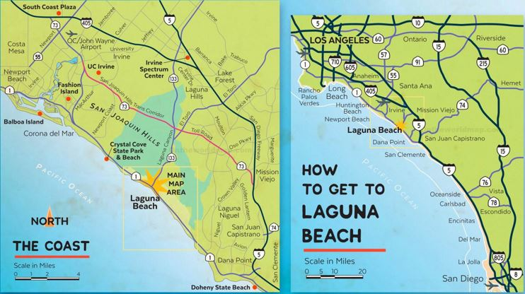 Laguna Beach Area Road Map