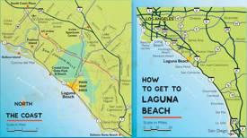 Laguna Beach Area Road Map