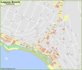 Laguna Beach Downtown Map
