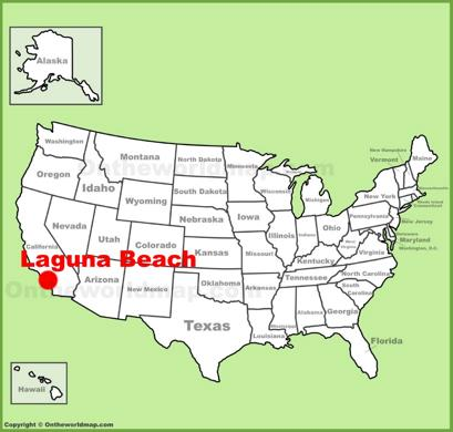 Laguna Beach Location Map