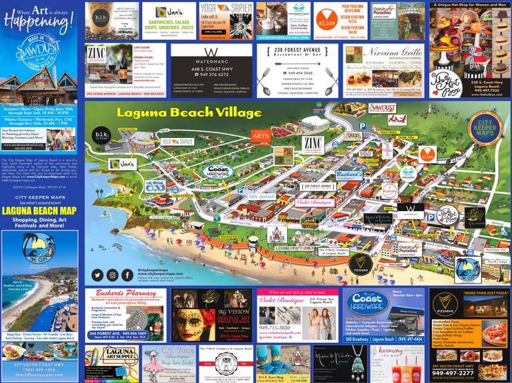 Laguna Beach Village Map