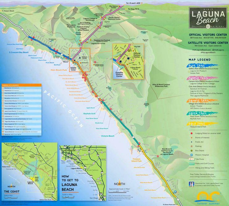 Tourist Map of Surroundings of Laguna Beach