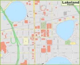 Lakeland city center map