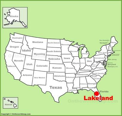 Lakeland Location Map