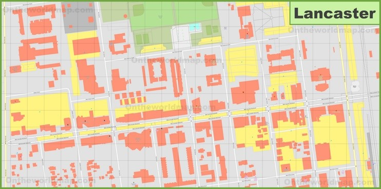 Lancaster downtown map