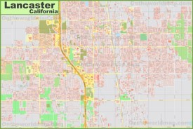 Large detailed map of Lancaster