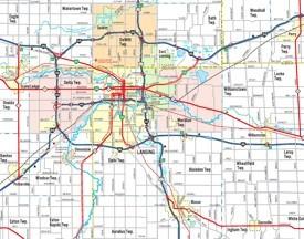 Lansing area road map