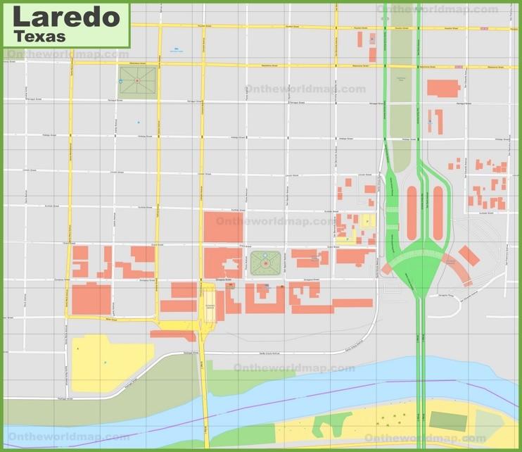 Laredo downtown map