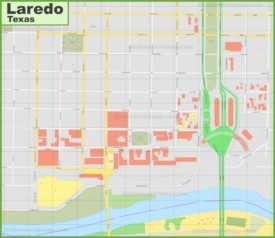 Laredo downtown map