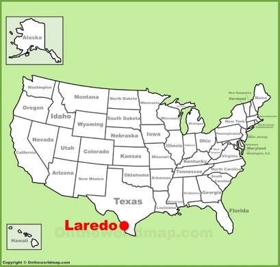 Laredo Location Map